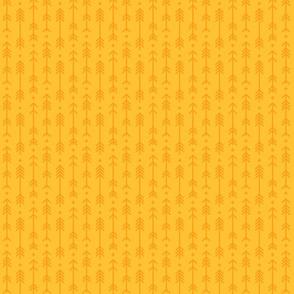 tiny cross + arrows golden honey tone on tone