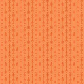 tiny cross + arrows tangerine tone on tone