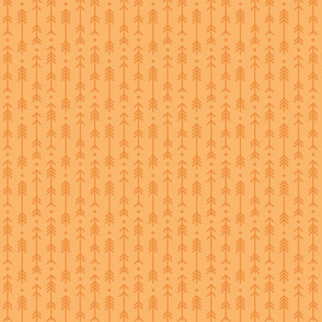 tiny cross + arrows mango orange tone on tone