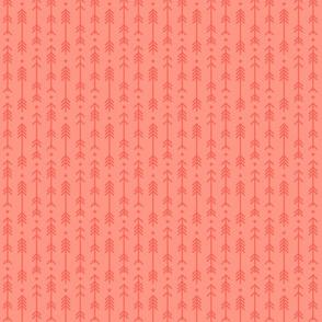 tiny cross + arrows peach tone on tone