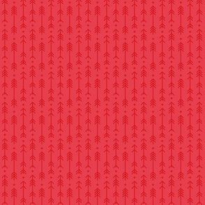 tiny cross + arrows bold coral tone on tone