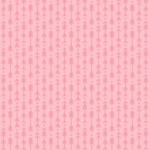 tiny cross + arrows light pink tone on tone