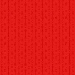 tiny cross + arrows bright red tone on tone