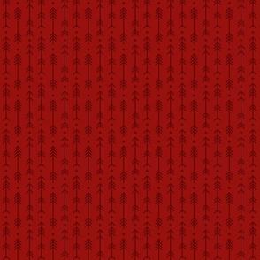 tiny cross + arrows dark red tone on tone