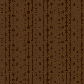 tiny cross + arrows brown tone on tone