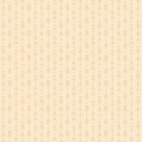 tiny cross + arrows ivory tone on tone