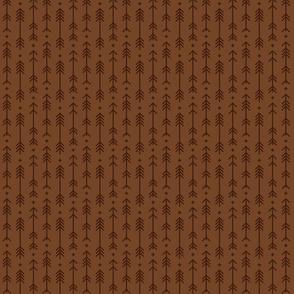 tiny cross + arrows chocolate brown tone on tone