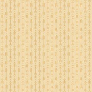 tiny cross + arrows creamy banana tone on tone