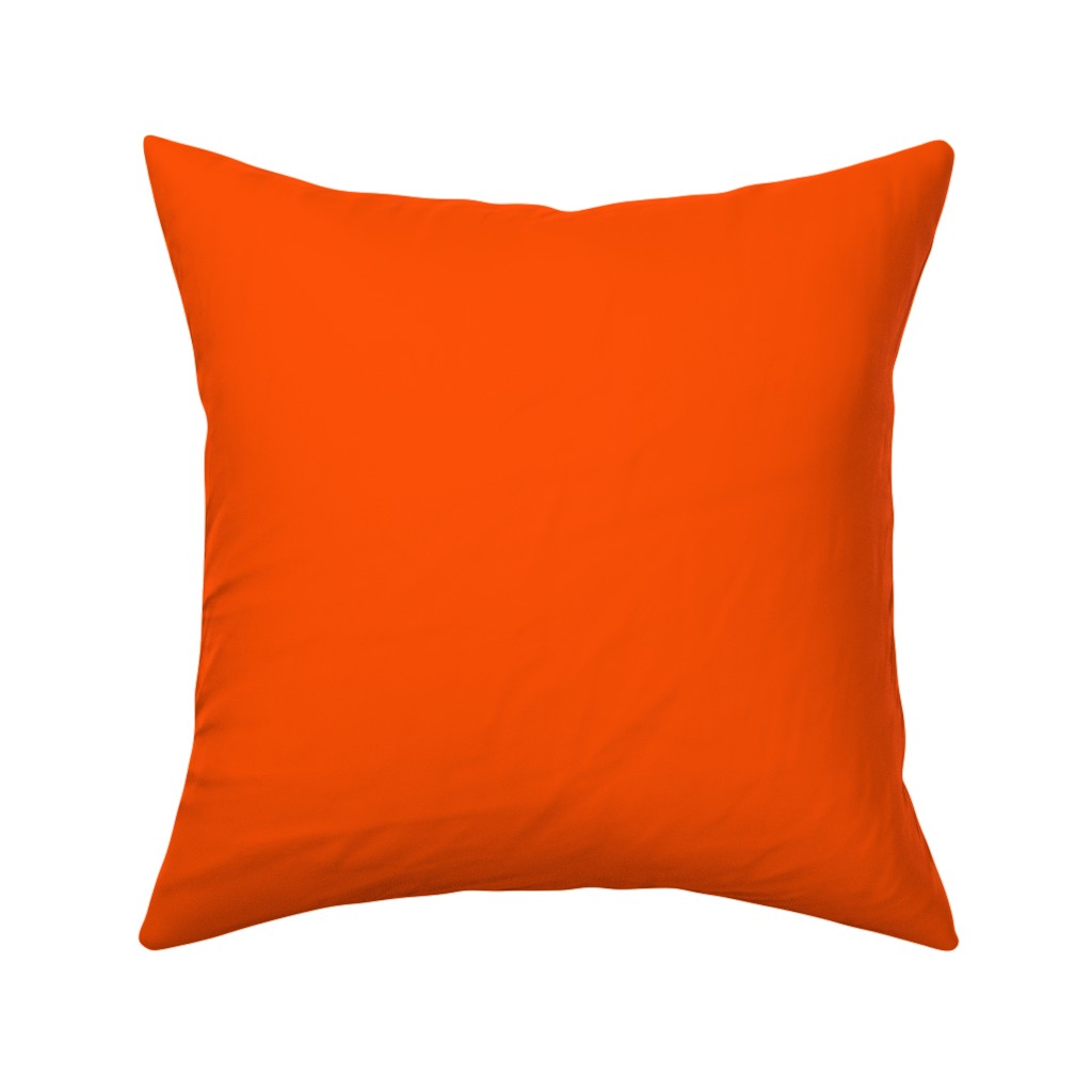 Catalan Throw Pillow featuring Solid International Orange (#FF4F00) by mtothefifthpower