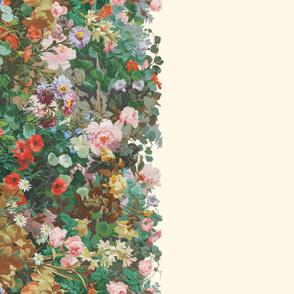 Victorian Garden Border ~ Border Print ~ Cosmic Latte