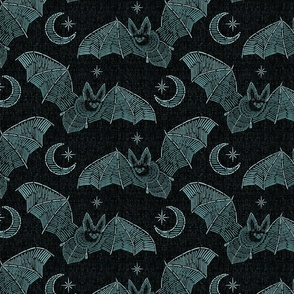 Bat Stitch Crazy - Blue