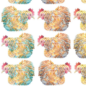 Colorful Stylized Chickens