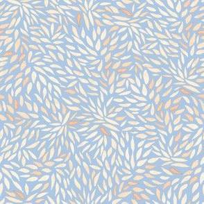 Dahlia Petals on Blue