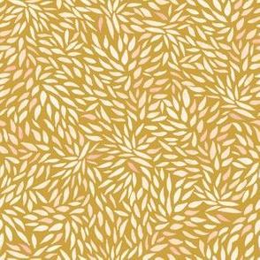 Dahlia Petals on Gold