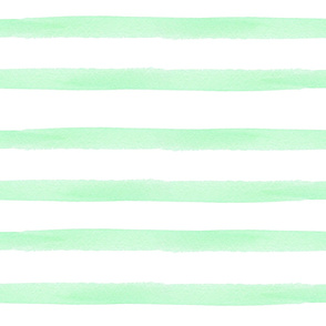 Mint Watercolor Stripes