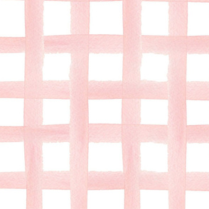 Hand painted pink watercolor plaid