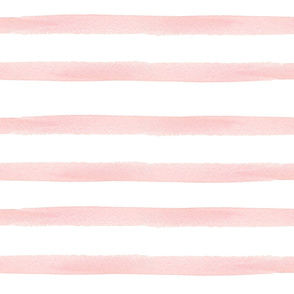 Blush Watercolor Stripes