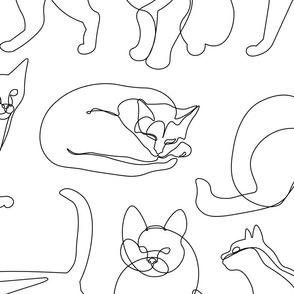 Cats Lines Minimalist