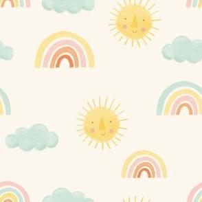 Sunny Days - rainbows and sunshine
