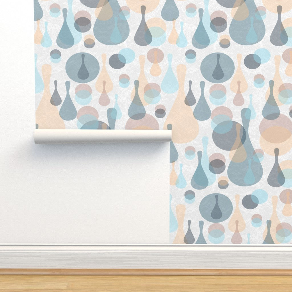Isobar Durable Wallpaper featuring Neutral retreat - mod spots and drops  by dustydiscoball