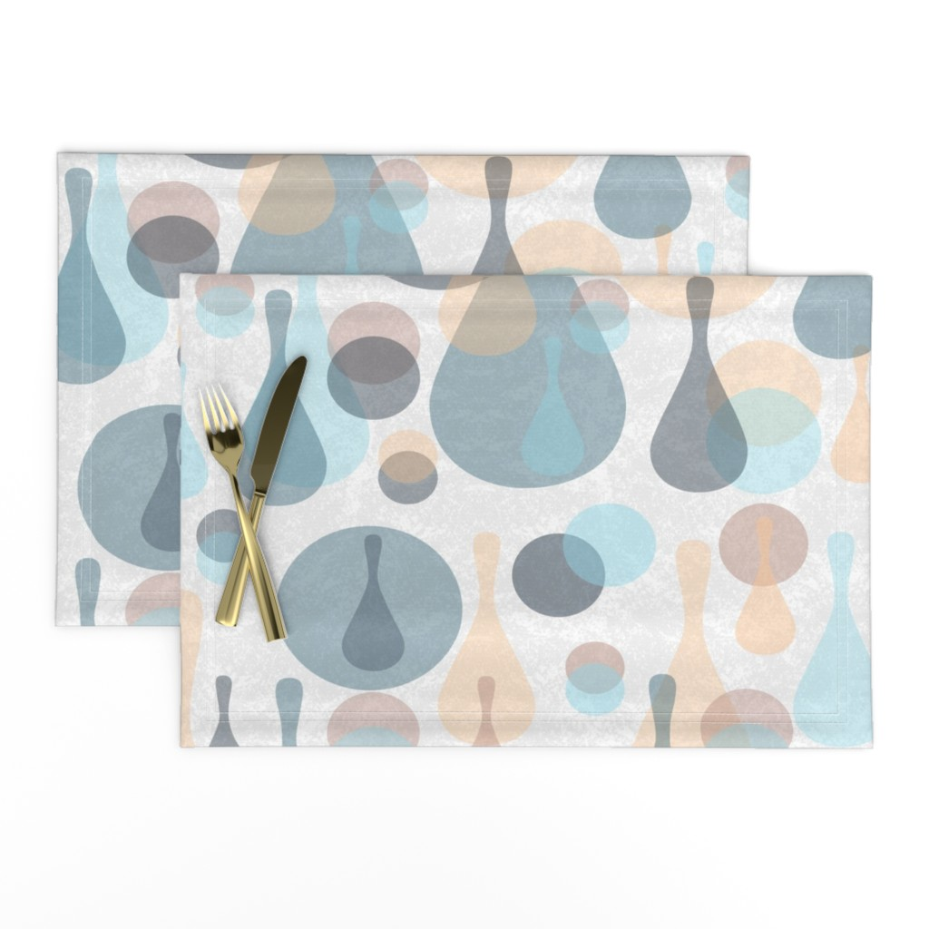 Lamona Cloth Placemats featuring Neutral retreat - mod spots and drops  by dustydiscoball