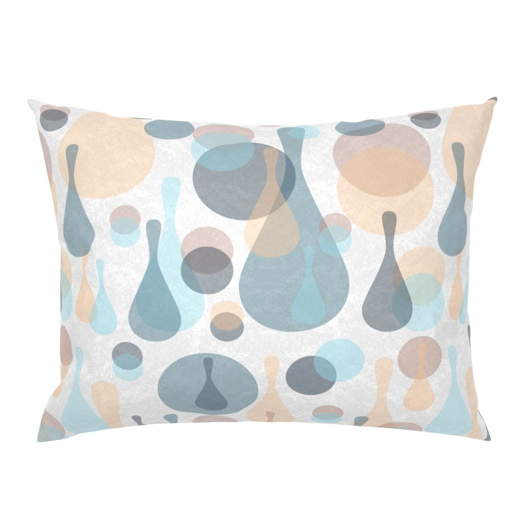 Campine Pillow Sham featuring Neutral retreat - mod spots and drops  by dustydiscoball