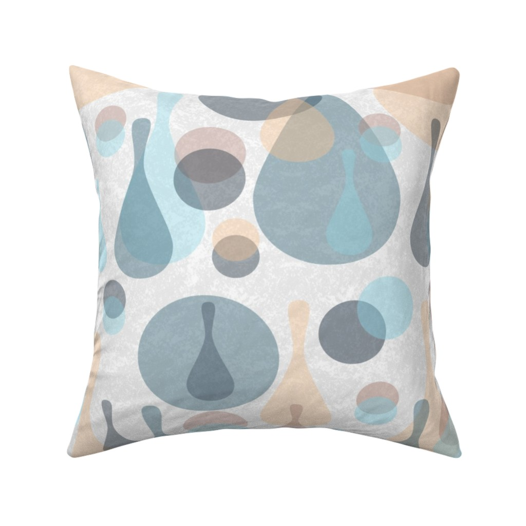 Catalan Throw Pillow featuring Neutral retreat - mod spots and drops  by dustydiscoball