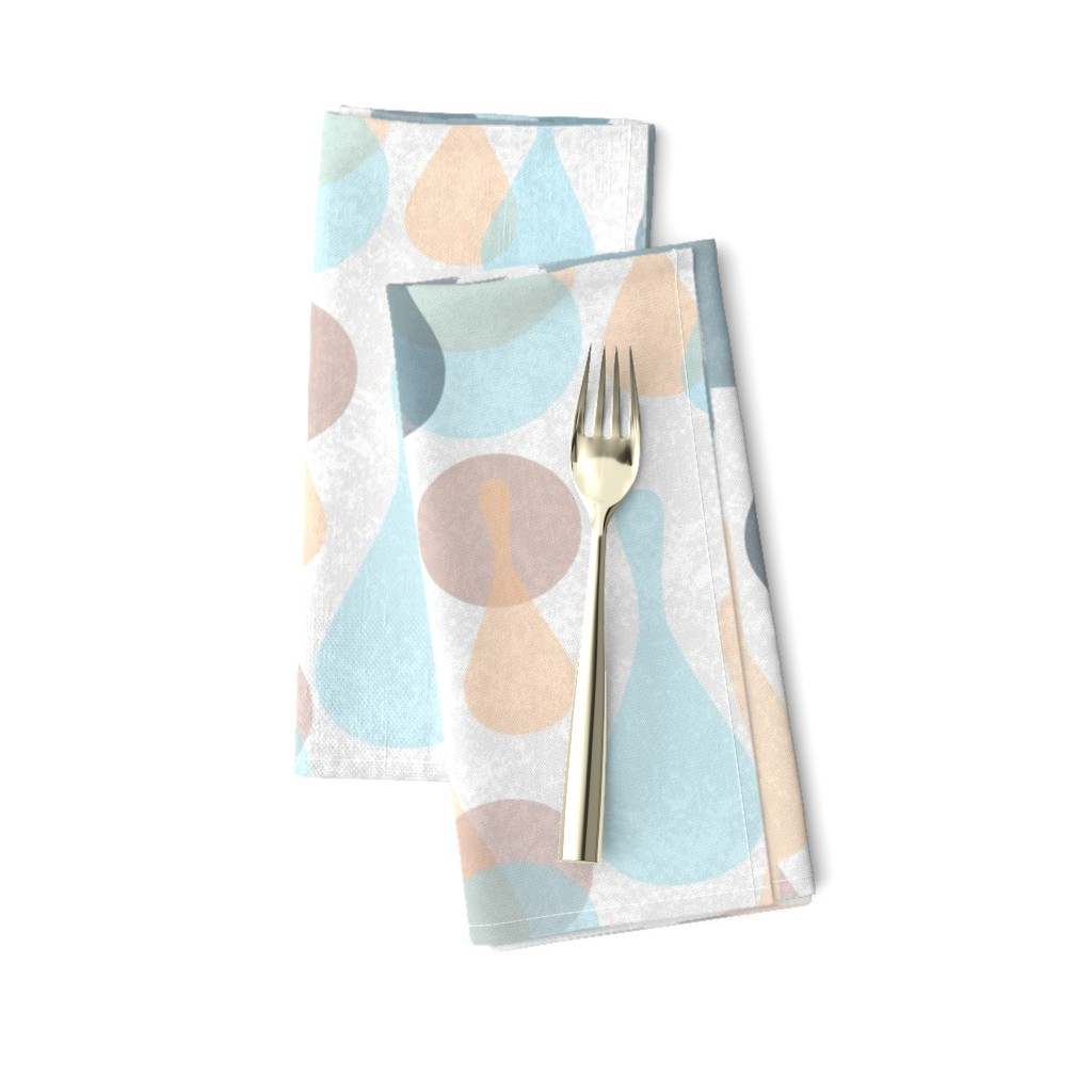 Amarela Dinner Napkins featuring Neutral retreat - mod spots and drops  by dustydiscoball