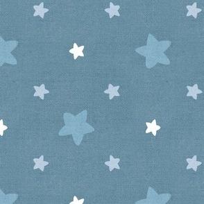 Sleepy Series Blue Stars Mid-tone Jumbo