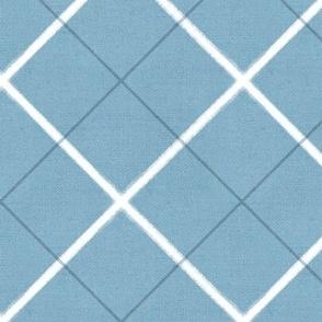 Sleepy Series Blue Tattersall Mid-tone Jumbo
