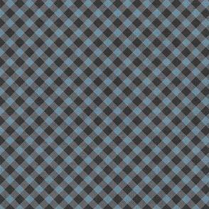 Sleepy Series Blue Gingham Dark Ditsy