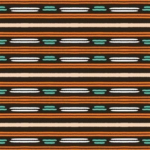 Colorful hand drawn horizontal stripes pattern