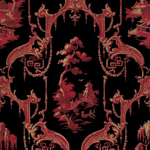 The Hawes Chinoiserie Toile ~ Original