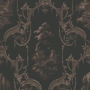 The Hawes Chinoiserie Toile ~  Original  II