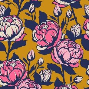 Rose garden - Mustard
