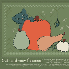 Cut-and-Sew Halloween Placemat 1
