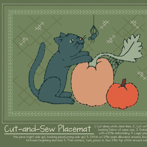 Cut-and-Sew Halloween Placemat 2