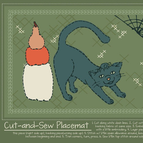Cut-and-Sew Halloween Placemat 3