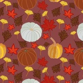 Fall into autumn- dark red