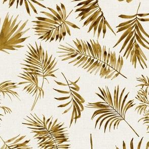 Palm Leaves Copper // Bone Linen
