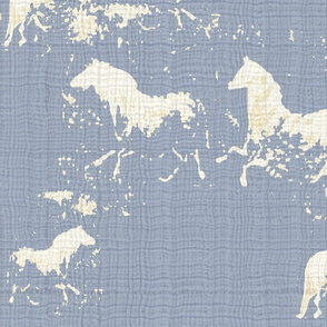 Ethereal Horses Blue Texture