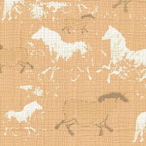 Ethereal Horses Warm Peach Texture