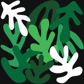 Green Leaves Cutouts Pattern