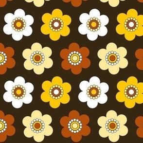 Groovy Flower Power Brown