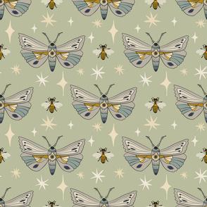 Moths &Bees - Sage
