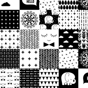mod baby » black and white wholecloth cheater quilt 4in