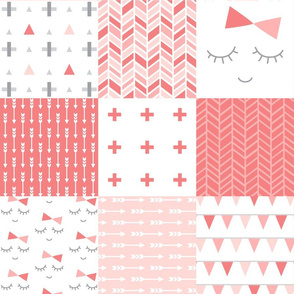mod baby » coral 6in wholecloth cheater quilt
