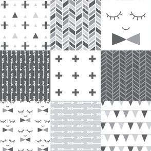 mod baby » grey 6in wholecloth cheater quilt