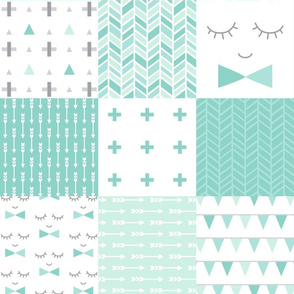 mod baby » mint 6in wholecloth cheater quilt