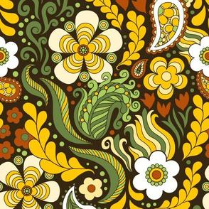 Groovy Floral Brown